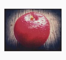 Red apple on grunge background 10 Kids Clothes