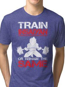 Train Insaiyan Remain Same - Vegeta Tri-blend T-Shirt