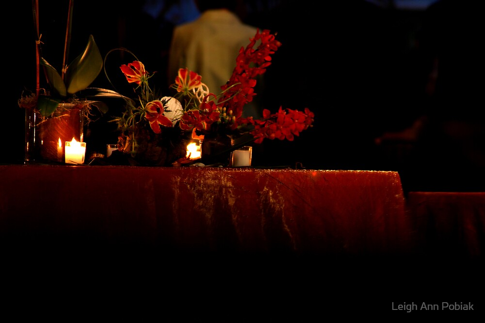 Candle light by Leigh Ann Pobiak