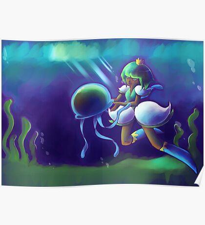 Underwater Seaweed Poster