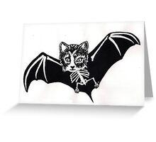 Batcat Greeting Card