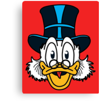 Scrooge McDuck Canvas Print
