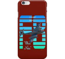 "Gloster Meteor F8 ""Blue Note"" T-shirt Design iPhone Case/Skin"