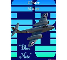"""Gloster Meteor F8 """"Blue Note"""" T-shirt Design Photographic Print"""