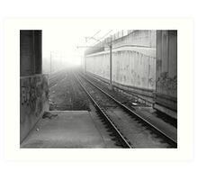 foggy track to Bayswater Art Print