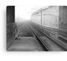 foggy track to Bayswater Metal Print