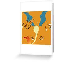 Flat Charizard Greeting Card