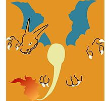 Flat Charizard Photographic Print