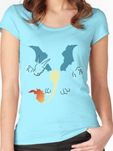 Flat Charizard Women's Fitted Scoop T-Shirt