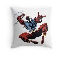 Spider-Man Unlimited - Ben Reilly the Scarlet Spider Throw Pillow