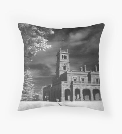 Werribee Mansion in IR Throw Pillow