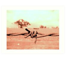 Barbed! Art Print