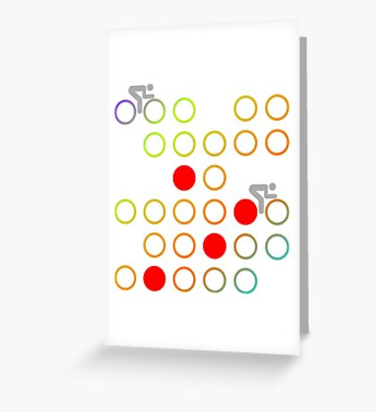 Cycling - King of the Mountains Greeting Card