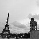 A man, a bull, a tower by Ashley Ng