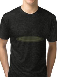 Glitch Firebog Land rug green Tri-blend T-Shirt