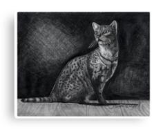 Alert Bengal Cat Canvas Print