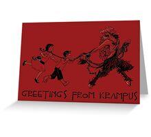 Greetings from Krampus Greeting Card