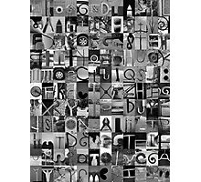 Alphabet Soup No.1 Photographic Print