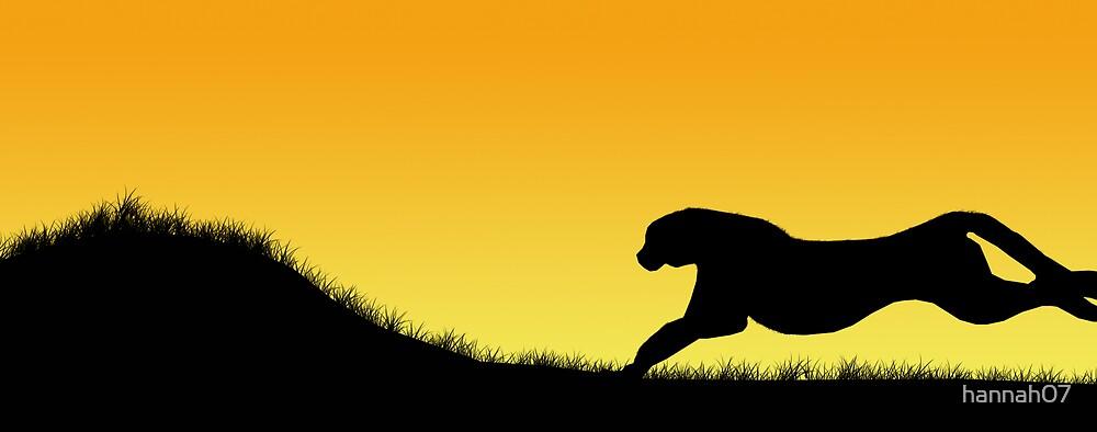 Cheetah on the run by hannah07