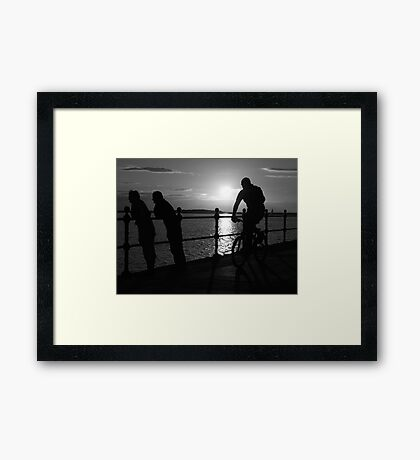 West Kirby Mono-sunset Framed Print