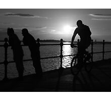 West Kirby Mono-sunset Photographic Print