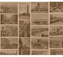Vintage Venice Lagoon Photographic Print