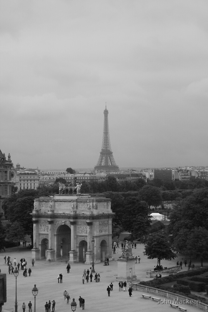Paris, Skyline from the Lourve by John Mackean