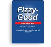Fizzy Good - Black books Canvas Print