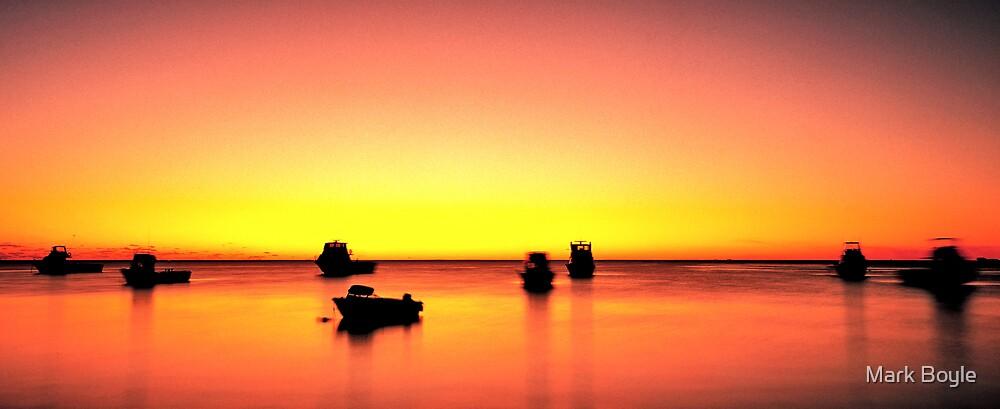 Fishing Boats at Dusk, Cervantes by Mark Boyle
