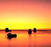 Fishing Boats at Dusk, Cervantes by Mark Boyle