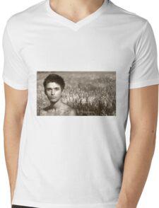September - Nature & Humanity Mens V-Neck T-Shirt