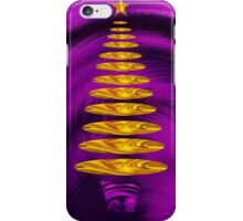 Abstract Golden Christmas Tree On Purple Background iPhone Case/Skin