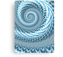 Sky Blue Abstract Canvas Print