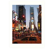 Times Square overload Art Print