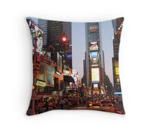 Times Square overload Throw Pillow