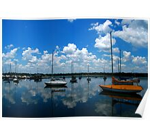 Sailboats in the Sky Poster