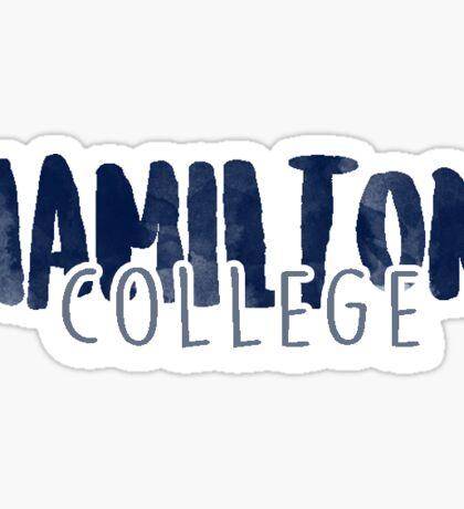 Hamilton college Sticker