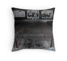 under the bank Throw Pillow