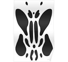Rorschach inkblot test. Poster