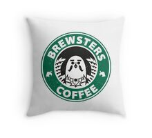 Brewsters Coffee (distressed) Throw Pillow