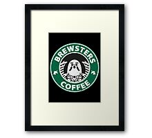 Brewsters Coffee (distressed) Framed Print
