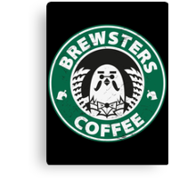 Brewsters Coffee (distressed) Canvas Print