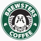 Brewsters Coffee (distressed) by 8-bit-hobo