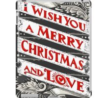 Greeting Card Text on Blackboard iPad Case/Skin