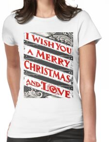 Greeting Card Text on Blackboard Womens Fitted T-Shirt