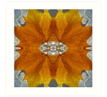 autumn leave water Art Print