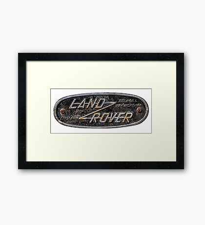 Series Land Rover badge Framed Print