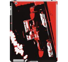 Alonso's Ferrari exits tunnel Monaco 2012 pop art print iPad Case/Skin