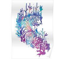 Watercolor tiger Poster