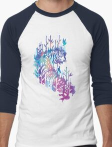 Watercolor tiger Men's Baseball ¾ T-Shirt